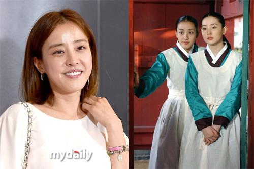 Park Eun Hye từng nhận nhiều sự quan tâm khi đóng cùng Lee Young Ae (phải).