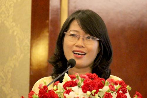 Tác giả Trương Huỳnh Như Trân đoạt giải Sách thiếu nhi. Ảnh: Mai Nhật.