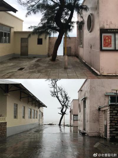 Cảnh quay nổi tiếng trên trước và sau cơn bão. Siêu bão Mangkhut gây ảnh hưởng nặng nề tại một số quốc gia, vùng lãnh thổ châu Á. Ít nhất 64 người thiệt mạng ở  Philippines. Nhiều tòa nhà ở Hong Kong bị hư hỏng. Ít nhất hai người thiệt mạng và hơn hai triệu người ở Trung Quốc phải di tản để tránh bão. Bão suy yếu thành áp thấp nhiệt đới khi di chuyển tới Quảng Tây sáng 17/9.