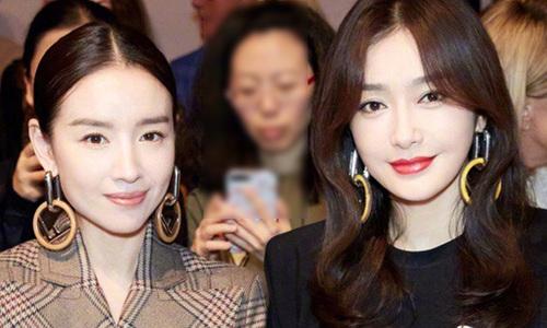 'Hoàng hậu' Đổng Khiết và Tần Lam dự tuần thời trang Milan
