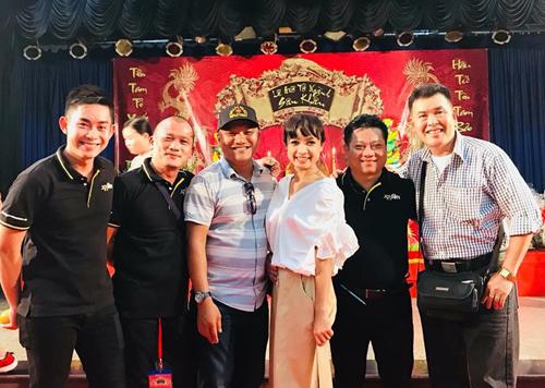 Từ trái sang: diễn viên Hữu Nghĩa, đạo diễn Xuân Phước, diễn viên Lê Bê La....