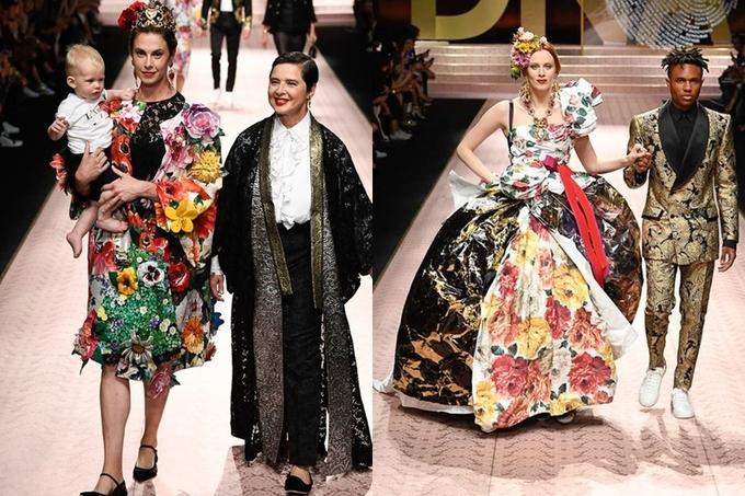 Mẹ tỷ phú Elon Musk trình diễn show Dolce & Gabbana