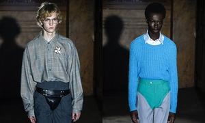 Gucci gây sốc với cách mặc nội y ngoài quần dài