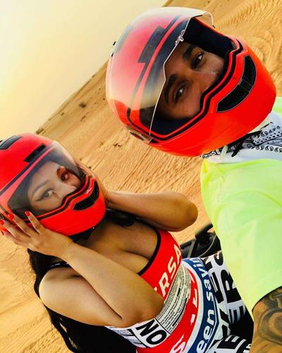 Nicki Minaj và Lewis Hamilton đi chơi cùng nhau tại Dubai.