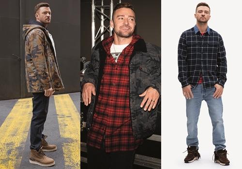 Justin Timberlake diện các thiết kế do anh sáng tạo.