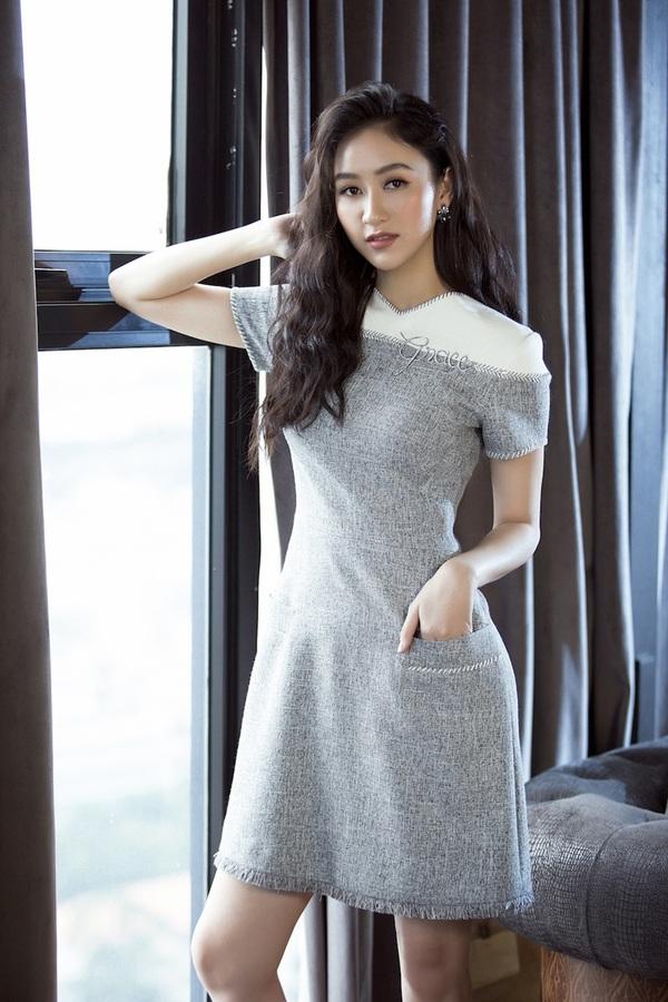 Á hậu Hà Thu biến hóa phong cách với 10 bộ đầm