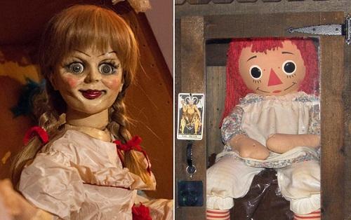 Annabelle trên phim (trái) và ngoài đời.