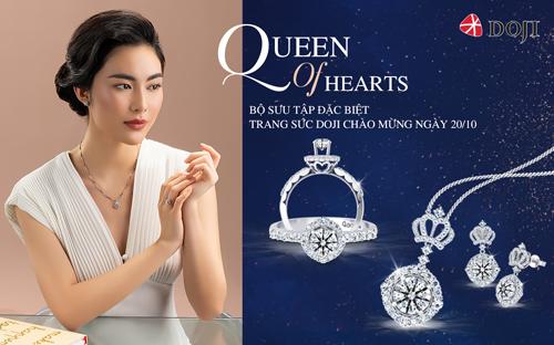 Bộ sưu tập Queen of hearts hướng tới những quý cô quản lý nơi công sở và phái đẹp tự chủ tài chính, giúp họ thêm nổi bật về nhan sắc cũng như tài năng.