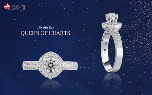 Viên kim cương chủ 8 trái tim 8 mũi tên với những giác cắt tinh xảo gợi hình ảnh người phụ nữ hiện đại, mạnh mẽ, tự tin.