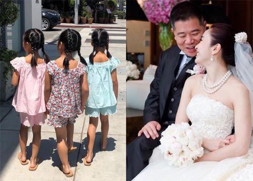 Lê Tư cùng chồng và ba con.
