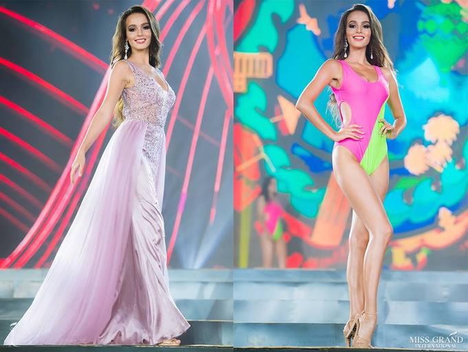 Phương Nga mặc váy xẻ tôn dáng ở bán kết Miss Grand International