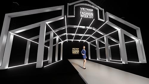 Bản phác thảo sân khấu Tuần lễ thời trang Quốc tế Việt Nam Thu Đông 2018.
