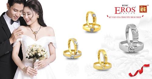 ĐÚng như tên gọi, bộ sưu tập Duy nhất gồm nhẫn nam và nhẫn nữ chỉ gắn mộtviên kim cương.