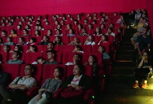 Khán phòng buổi chiếu Shoplifters ở BHD Phạm Ngọc Thạch tối 29/10.
