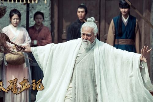 Cụ ông 82 tuổi đóng Trương Tam Phong trong Ỷ thiên Đồ long ký 2018.