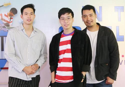 Nam Anh, Trọng Thắng và Việt Hoàng (từ trái sang) của ban nhạc Ngọt.