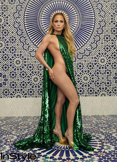 Jennifer Lopez trên tạp chí Instyle.