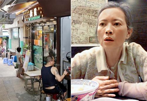 Lam Khiết Anh thích ngồi ngoài trời, gần cửa ra vào của quán ông Phạm.