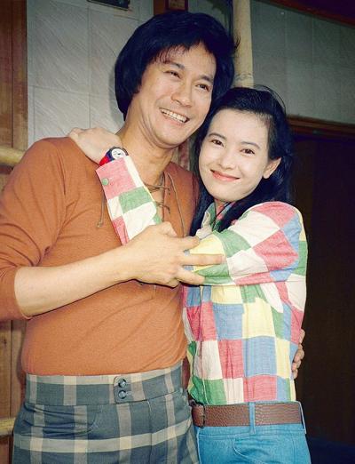 Lam Khiết Anh và tài tử Trịnh Thiếu Thu.