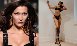 Ảnh Bella Hadid trơ xương khi thử đồ Victoria's Secret gây tranh cãi
