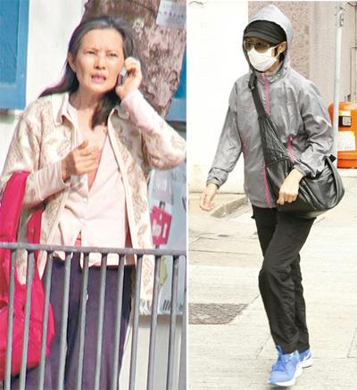 Lam Khiết Anh quãng thời gian cuối đời. Bên phải là hình ảnh trang On ghi lại sáng 5/11, được cho là chị gái Lam Khiết Anh tới nhận thi thể em.