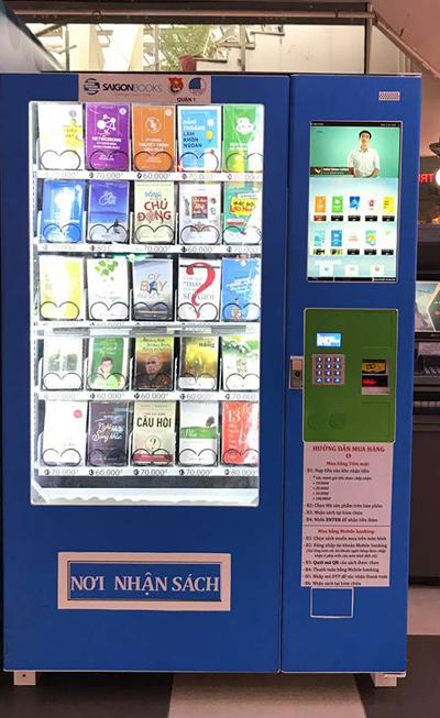 Máy bán sáchhoạt động tương tựmáy bán nước tự động.