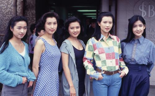 Từ trái sang: Dương Linh, Quách Ái Minh, Lý Lệ Trân, Lam Khiết Anh, Châu Huệ Mẫn - dàn diễn viên nữ của Đại thời đại.
