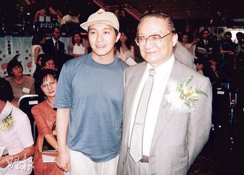 Châu Tinh Trì (trái) và nhà văn Kim Dung.