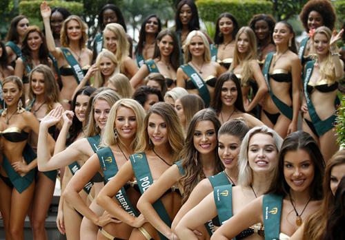 Dàn thí sinh của Miss Earth 2018.