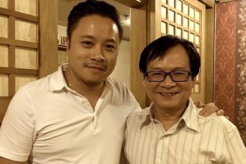 Nhà văn Nguyễn Nhật Ánh (phải) và đạo diễn Victor Vũ.