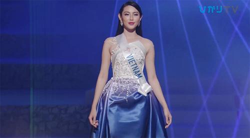 Thùy Tiên ở phần thi dạ hội.