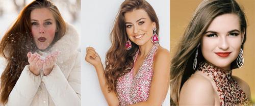 Từ trái sang: Hoa hậu Canada, Anh và Guam.
