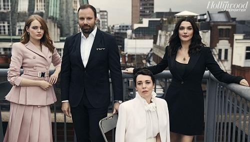 Từ trái sang: Emma Stone, Yorgos Lanthimos, Olivia Colman và Rachel Weisz.
