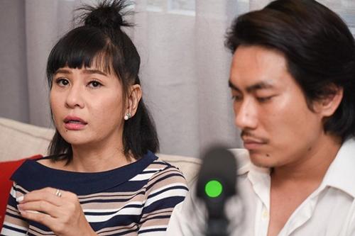 Kiều Minh Tuấn và Cát Phượng từng họp mặt báo giới chia sẻ về ồn ào tình cảm với An Nguy hồi giữa tháng 10.