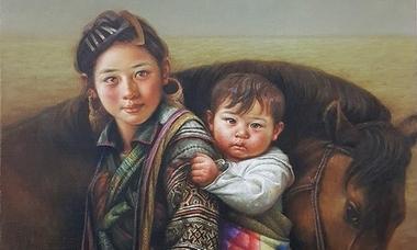 Nét đẹp vùng cao Việt Nam trong tranh sơn dầu tả thực