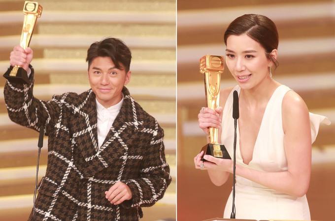 Hoa hậu Hong Kong diện mốt không nội y dự thảm đỏ TVB