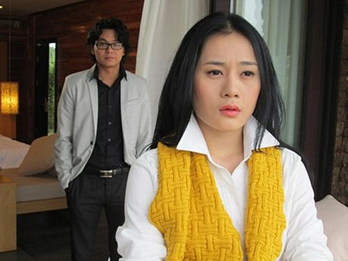Nhan sắc Phương Oanh năm 2014 khi tham gia phim Lời thì thầm từ quá khứ.