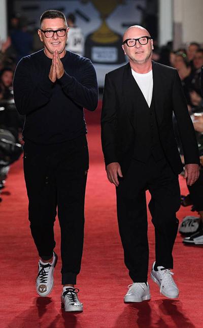 Stefano Gabbana (phải) và Domenico Dolce