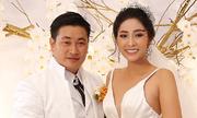 Hoa hậu Đại dương Đặng Thu Thảo liên tiếp hôn chồng ở tiệc cưới