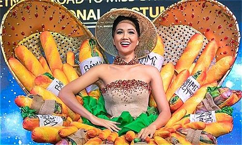 Váy Bánh Mỳ gây tranh cãi của HHen Niê.