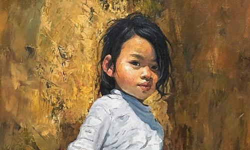 Tuổi thơ Tây Bắc qua tranh vẽ họa sĩ dân tộc Mường