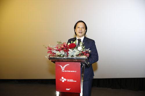 Ông Trần Nhất Hoàng  Phó Cục trưởng Cục Hợp tác Quốc tế, Bộ Văn hóa, Thể thao và Du lịch tham dự và phát biểu tại buổi lễ