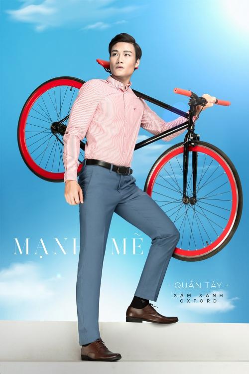 Thoải mái di chuyển nhiều nơiVới dòng quần tây phom dáng ôm gọn, trẻ trung,Việt Tiến thiết kế chiếc quần vừa tôn dáng vừa năng động có thể đưa người đàn ông tự tin đến bất cứ nơi đâu.