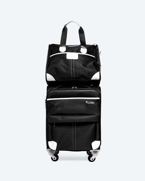 Bộ vali vải bố cao cấp DS805BLA18 - đen: giảm 40% còn 2,2 triệu đồng. Khóa chống trộm TSA cao cấp; tay xách ở đầu và bên hông, tay kéo; 2 ngăn chứa lớn và nhiều ngăn chứa phụ thoải mái đựng những vật dụng cần thiết; bánh xe dễ dàng xoay 360 độ... là những ưu điểm của chiếc vali này.