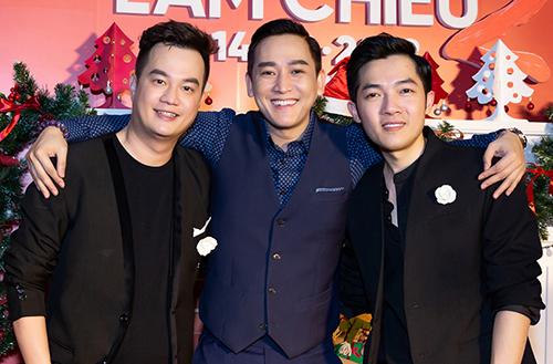 Diễn viên Hứa Vĩ Văn (giữa) và hai đạo diễn của bộ phim Nam Cito (phải) - Bảo Nhân.