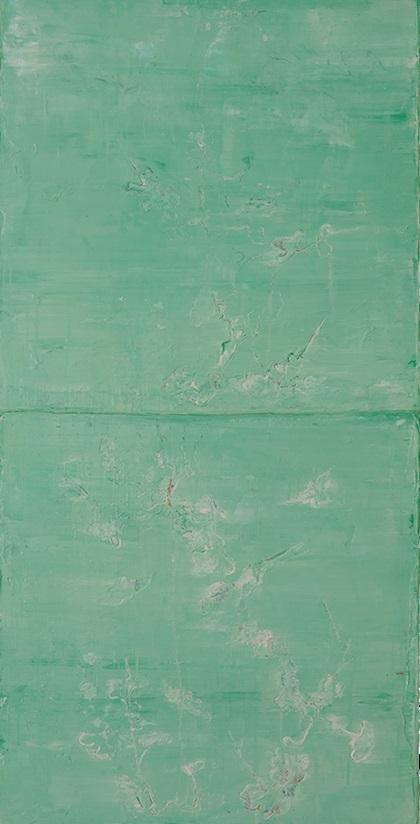 Tác phẩm Bầu trời màu ngọc của họa sĩ Hà Mạnh Thắng.