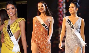 Váy dạ hội rực sắc trong đêm thi bán kết Miss Universe