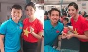 Top 10 Hoa hậu Việt Nam phục vụ chuyến bay đưa tuyển Việt Nam về nước