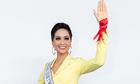 H'Hen Niê mặc áo cờ đỏ sao vàng tổng duyệt Miss Universe