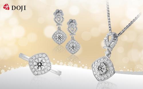 Chất liệu độc đáo với kim cương 8 Hearts & 8 Arrows phản chiếu ánh sáng hình 8 trái tim và 8 mũi tên, kết hợp họa tiết vương miện cầu kỳ, sang trọng sẽ là món quà lấp lánh dành tặng nàngmùa Giáng sinh.